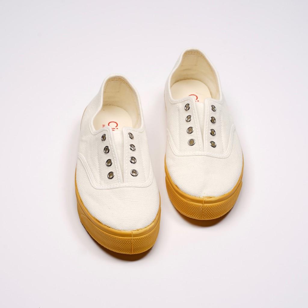 CIENTA 西班牙國民帆布鞋 J10997 05 白色 黃底 經典布料 大人