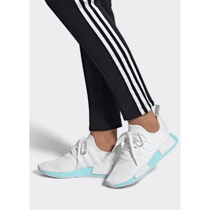 公司正品 Adidas NMD R1 女鞋 EF4273 歐美限定 白色 雲朵 水藍色