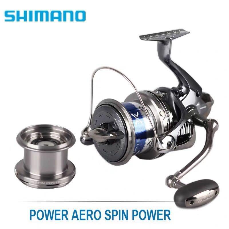 滿額免運 SHIMANO禧瑪諾POWER AERO SPIN POWER標準樣式遠投輪雙杯雙卸力 現貨速發
