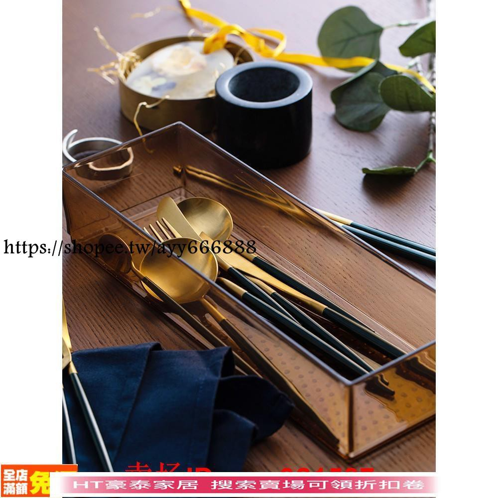 HT豪泰家居生活館 leon綠金西餐餐具304不銹鋼主餐刀叉勺甜品勺筷子餐具禮盒裝