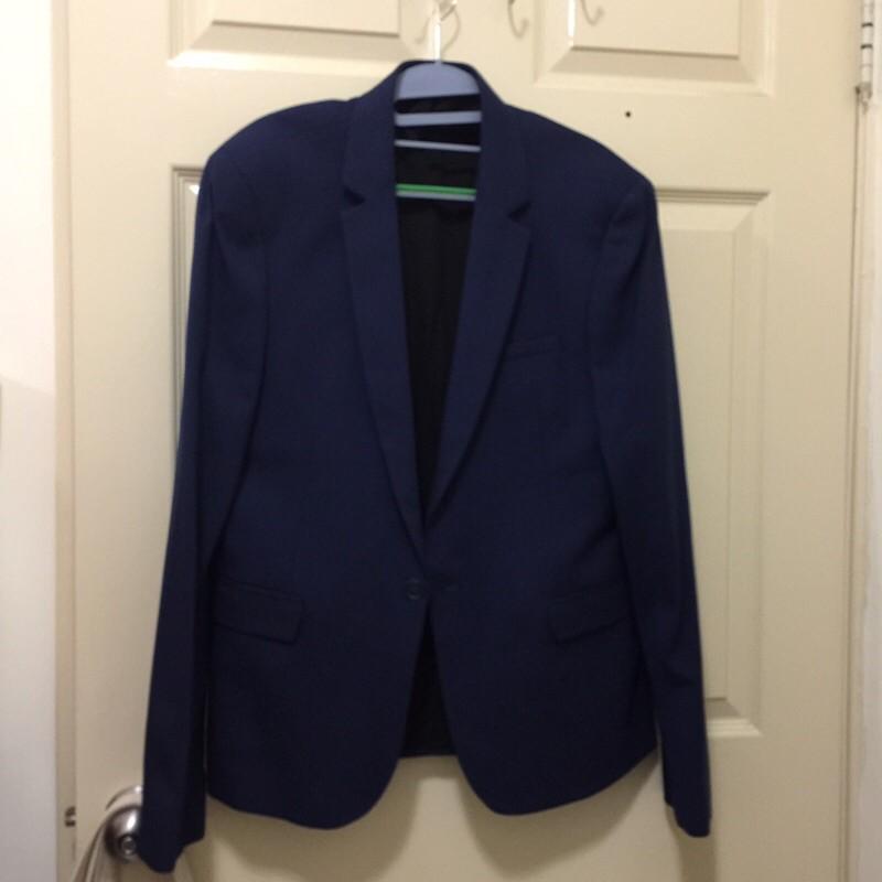 英國ASOS修身成套寶藍西裝