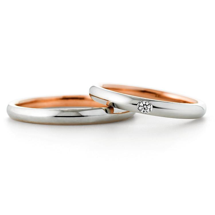 【巧品珠寶】天然鑽石群鑲點綴圓鑽玫瑰金白金雙色鑽石情侶夫妻伴侶結婚