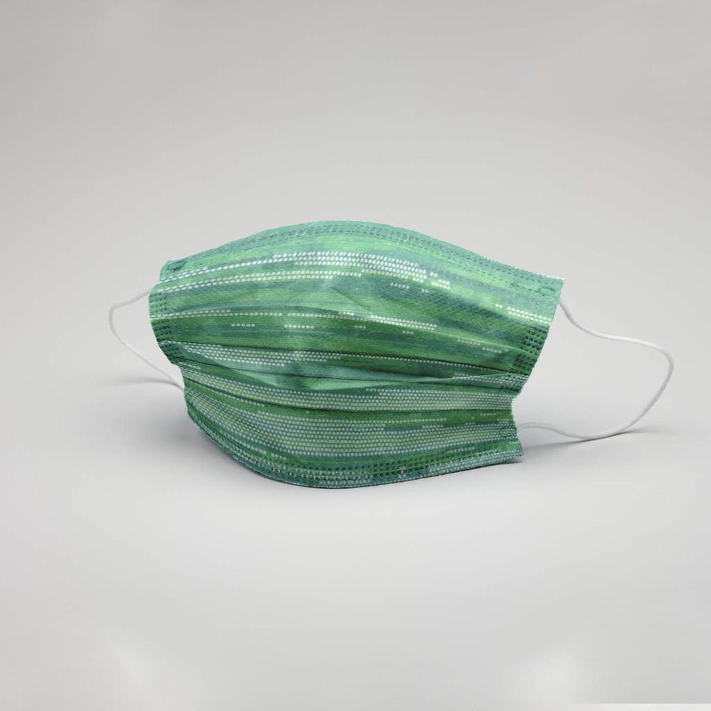 科技綠口罩10入袋裝(非醫療口罩)