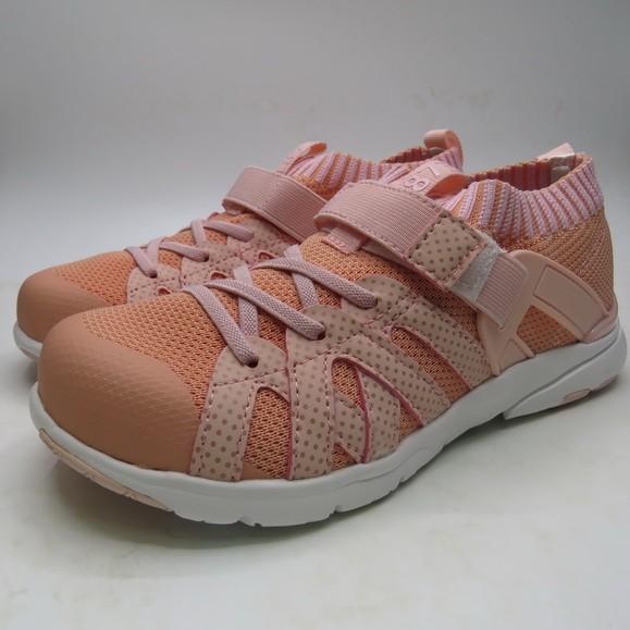 《日本Moonstar》HI系列 套襪型運動鞋-粉(15-22.0cm)M2229419SS