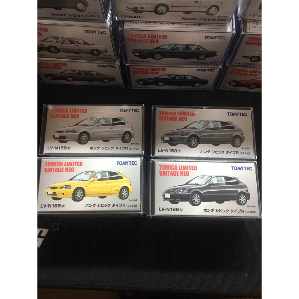 TOMICA TOMYTEC HONDA civic EK9 (N158a+N158b+N165a+N165b)4車合售