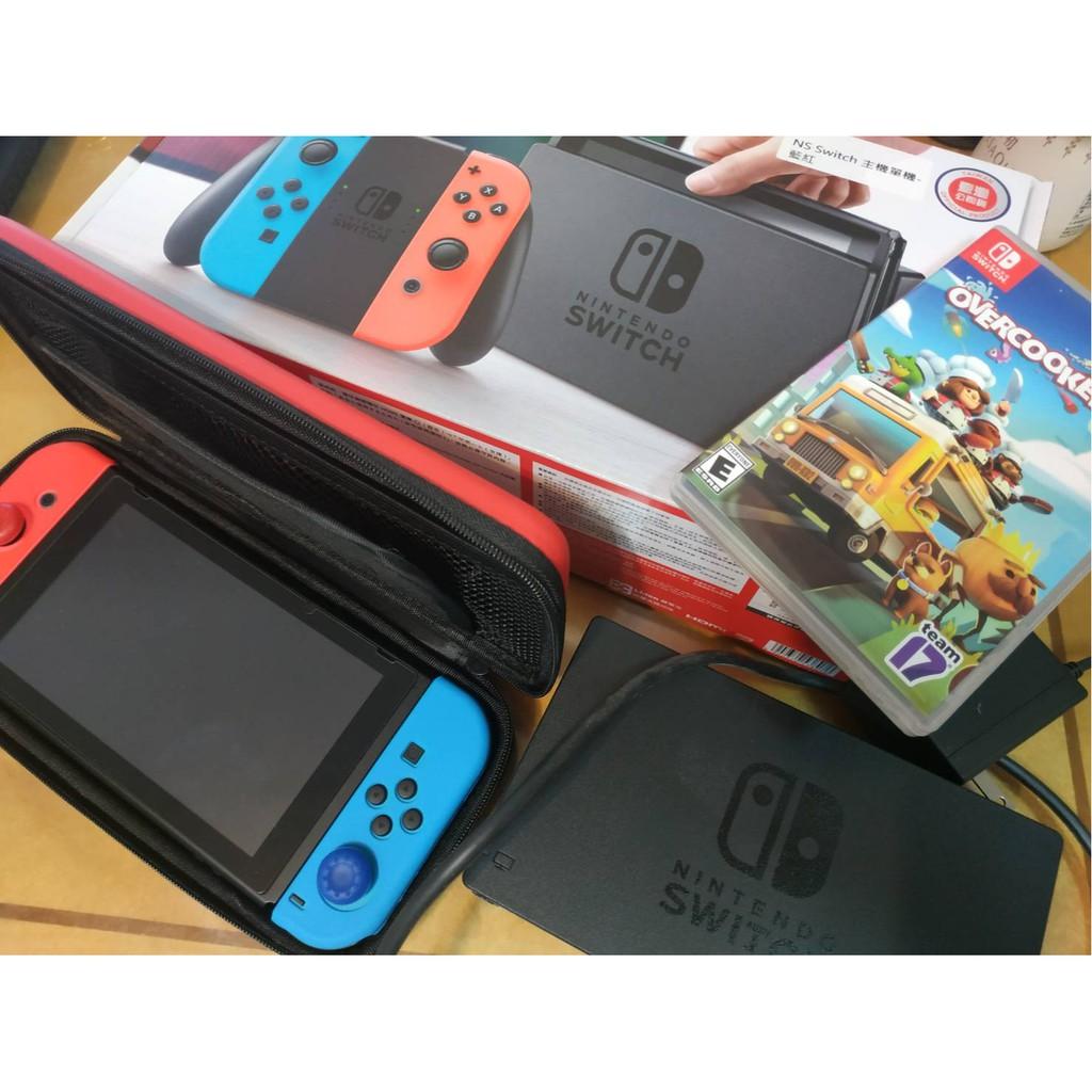 【24小時出貨/二手】Nintendo 任天堂Switch 電光藍&紅Joy-Con  主機 +你裁我剪 斯尼帕 數位版