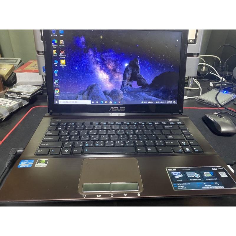 ASUS A43S  i5-2450M 8g GT540M 2G獨顯 雙硬碟500g/SSD240G全新電池不用怕