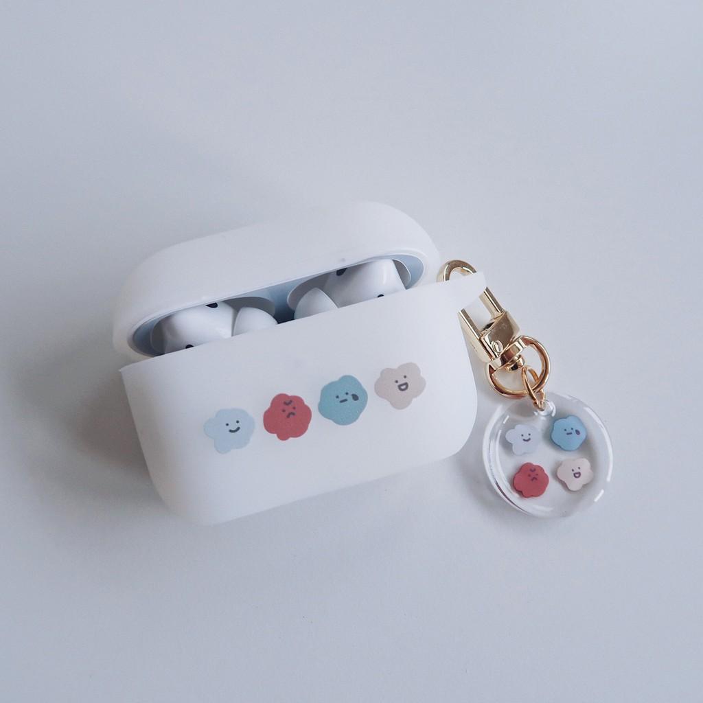 AirPods Pro 蘋果矽膠耳機保護套 喜怒哀樂 含吊飾|現貨 今日下單明天出貨【方坊】
