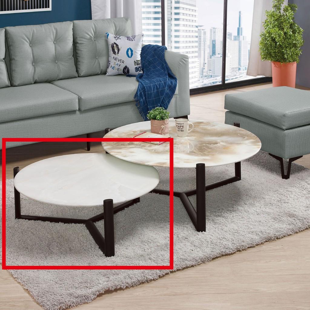 【74.5cm玻璃小茶几-A311-3】實木原木玻璃 大理石長方桌 大小邊几 圓桌 【金滿屋】