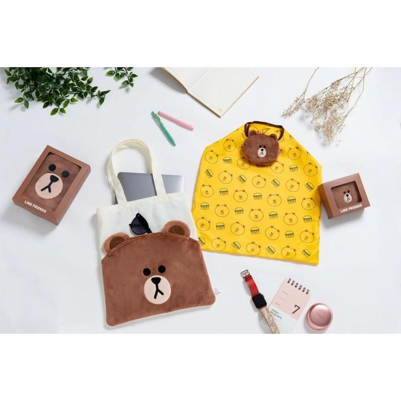 麥當勞x熊大聯名 熊大折疊手提袋