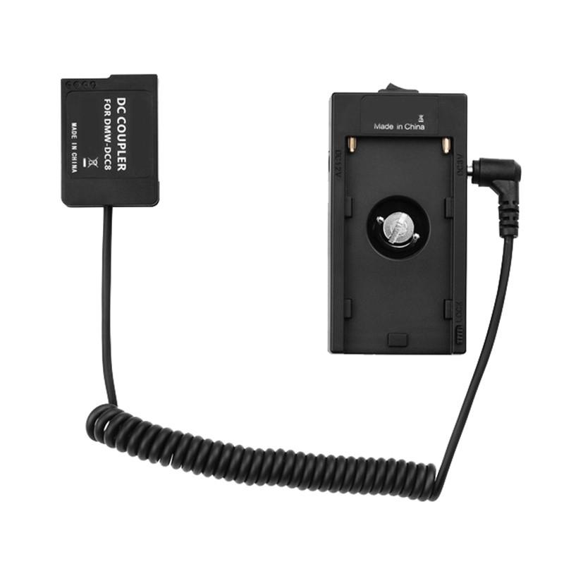 NP-F970電池板支架適配器DMW-DCC8虛擬電池耦合器,用於Panasonic G6/G7/G80/G81/G85
