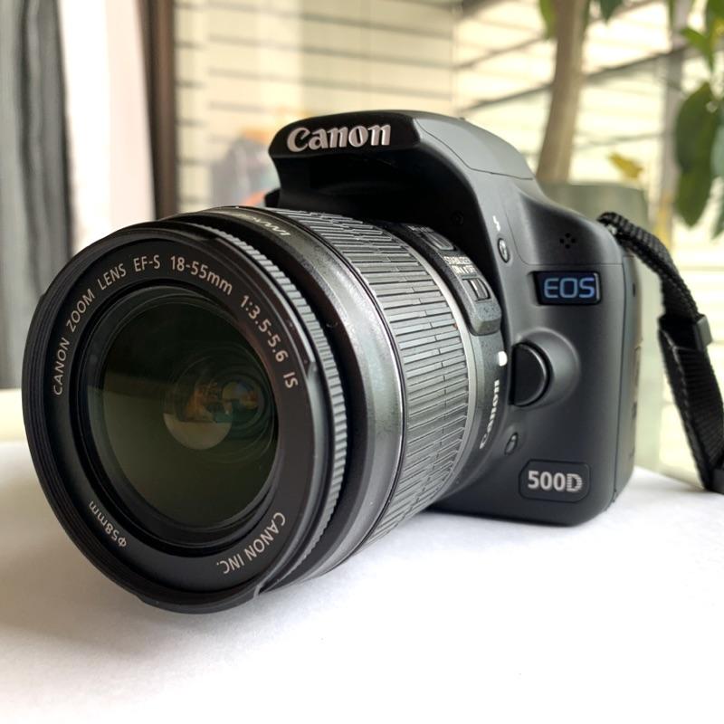 [含運]Canon EOS 500D 公司貨 雙鏡組 雙原廠電池-二手