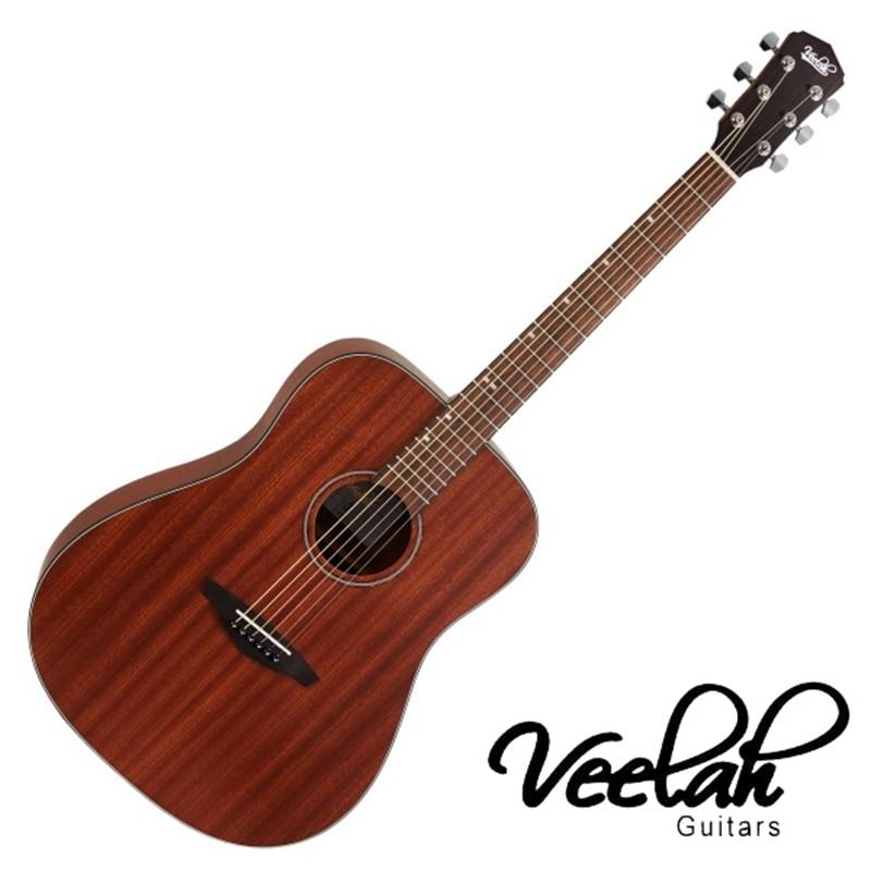 Veelah VDMM 41吋 民謠吉他 全桃花心木 合板 - 【他,在旅行】