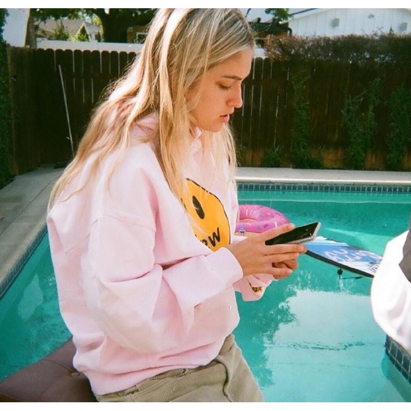 Drew House Hoodie Pink 粉紅色帽T 二手新品