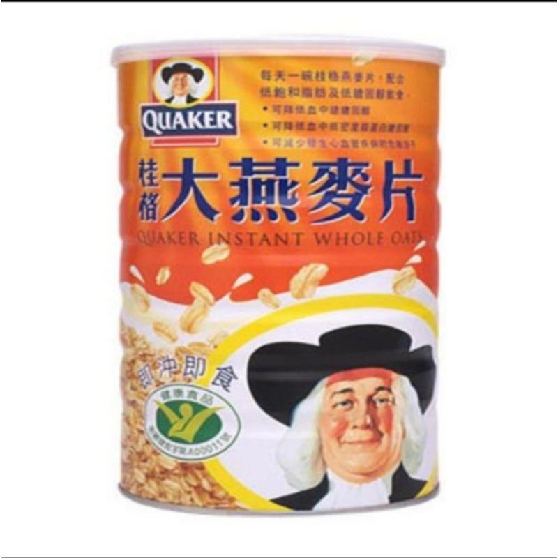免運 巧璦小舖 「QUAKER桂格」即沖即食大燕麥片(700g×6罐)