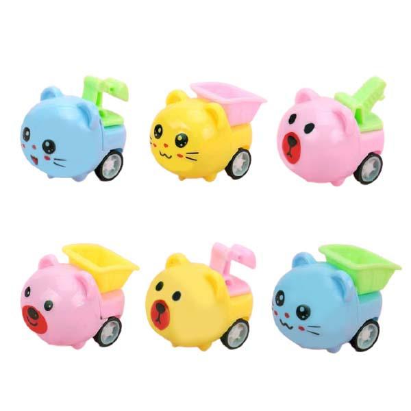 9625 可愛動物工具迴力車 工作車小賽車天竺鼠玩具車 玩具車 可愛車子 兒童玩具