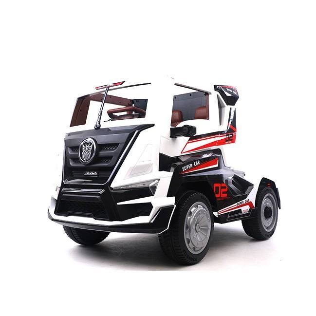 【聰明媽咪兒童超跑】巨無霸卡車頭 雙驅兒童電動車 白色 (不含拖斗)