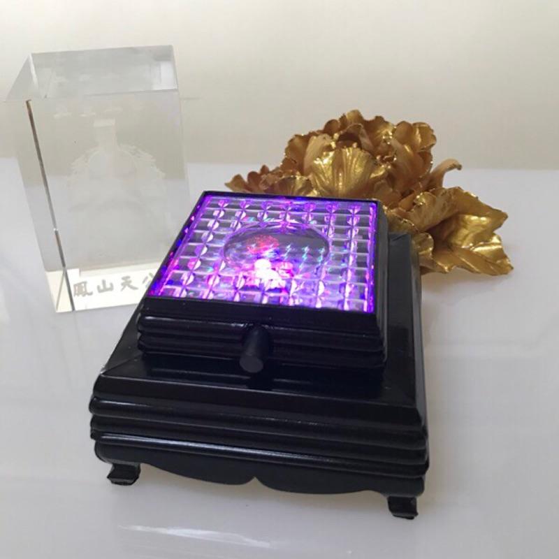 水晶藝品 LED七彩燈座