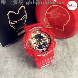 casio 卡西歐 G-SHOCK ga-110 ironman 漫威 鋼鐵人 復仇者聯盟 運動手錶  附原廠盒*