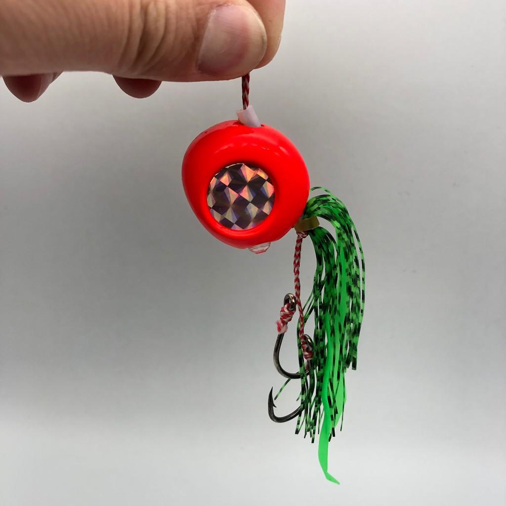 120g幽灵豆夜光裙钩炎月海釣餌石斑路亞餌敲底餌鉛球餌