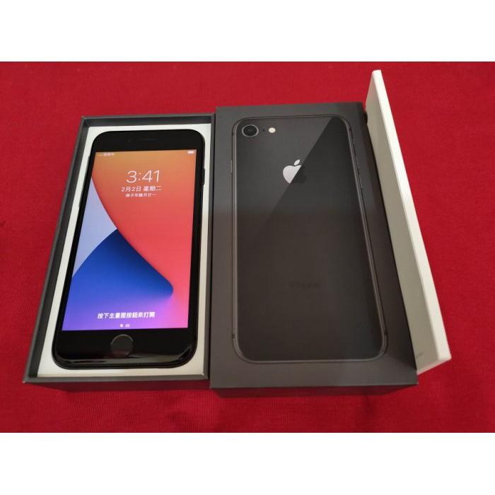※聯翔通訊 黑色 Apple iPhone 8 256G 二手手機 原廠盒裝 台灣過保固2018/10/29