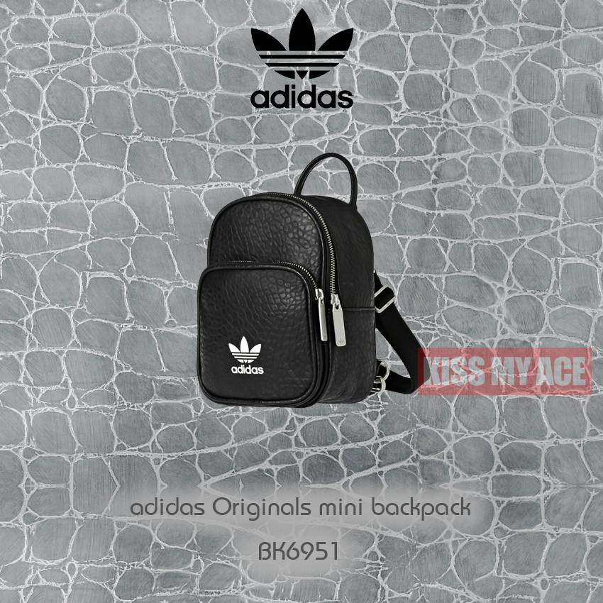 b71ce3d740005 ADIDAS ORIGINALS CLASSIC 黑白小LOGO 荔枝皮革書包後背包BK6946 | 蝦皮購物