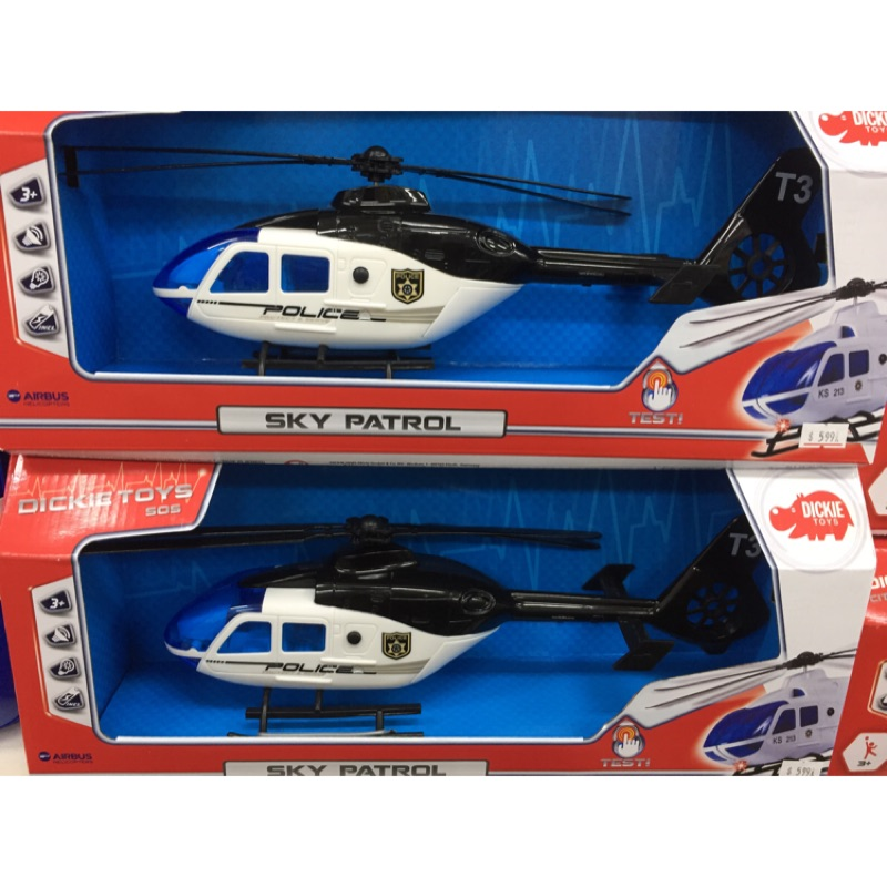DICKIE TOYS 警用直升機 DI03940 ️擬真聲光音效 槳️手動旋轉 原價599