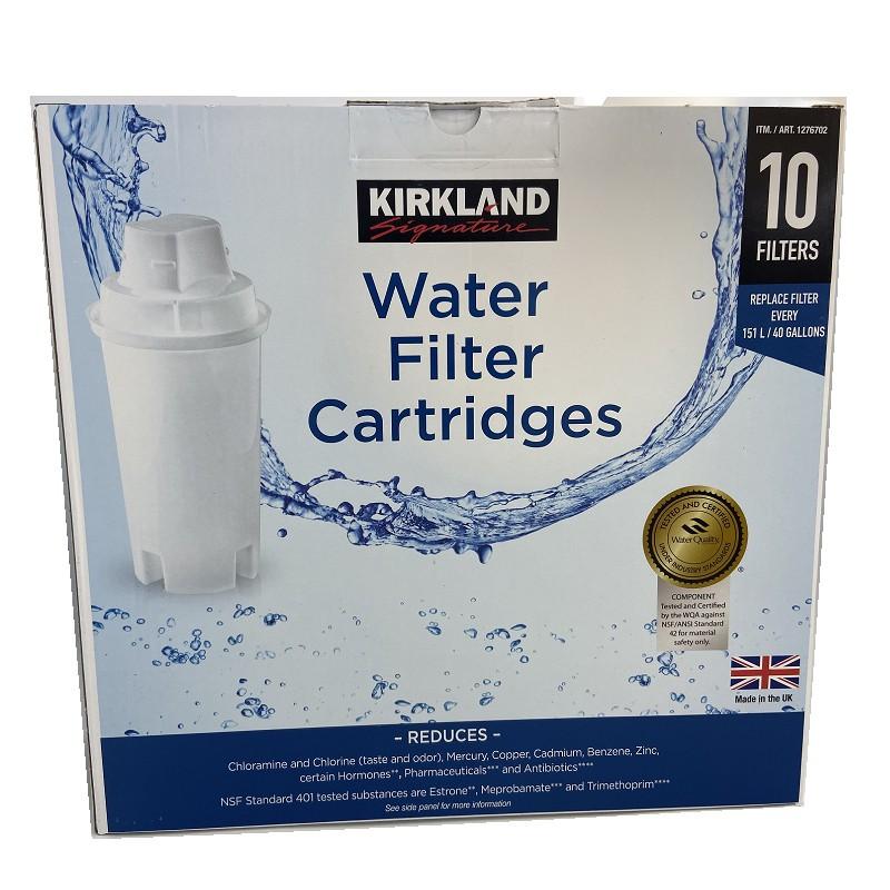 Kirkland 10入裝圓形8周濾芯 英國製 適用 Brita 等款濾水壺濾心/濾芯 有外盒