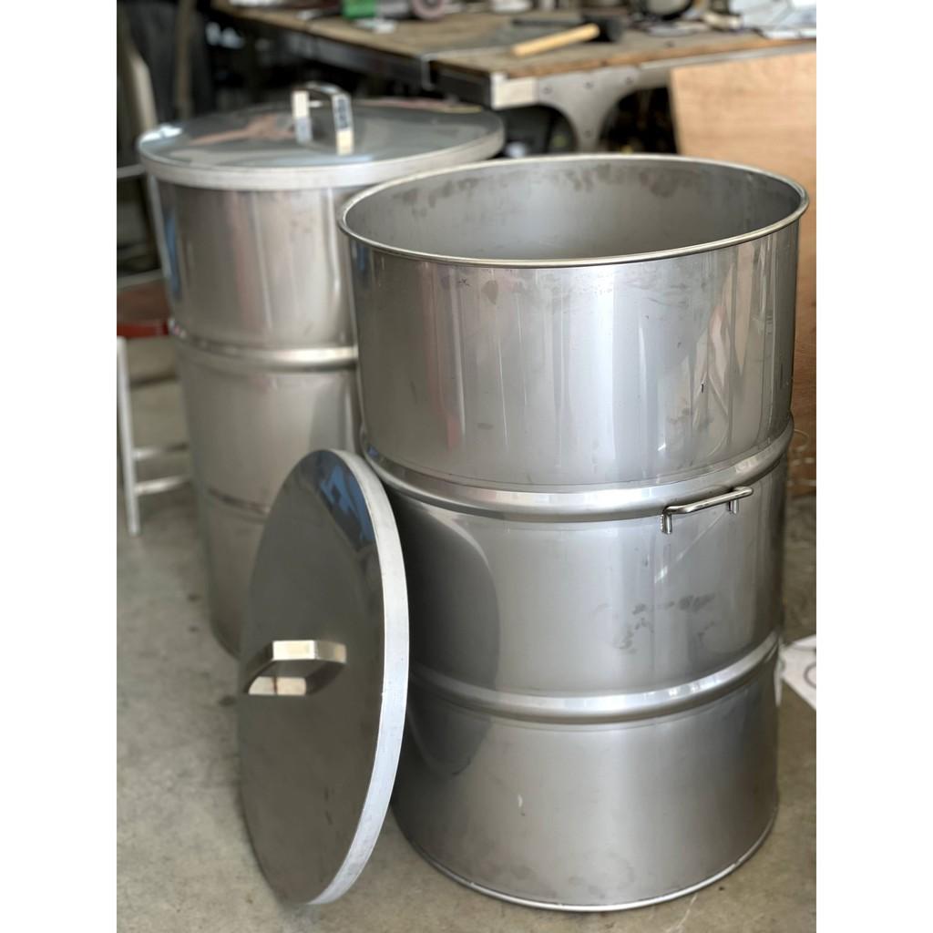 220公升白鐵附蓋油桶、50加侖油桶、白鐵桶、不銹鋼油桶、芝麻油、花生油、黑麻油、苦茶油、葵花油、茶籽油、茶葉桶、儲酒桶