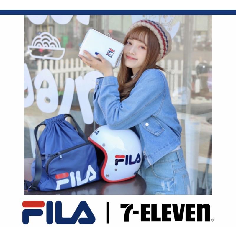 FILA化妝包/安全帽後背袋組