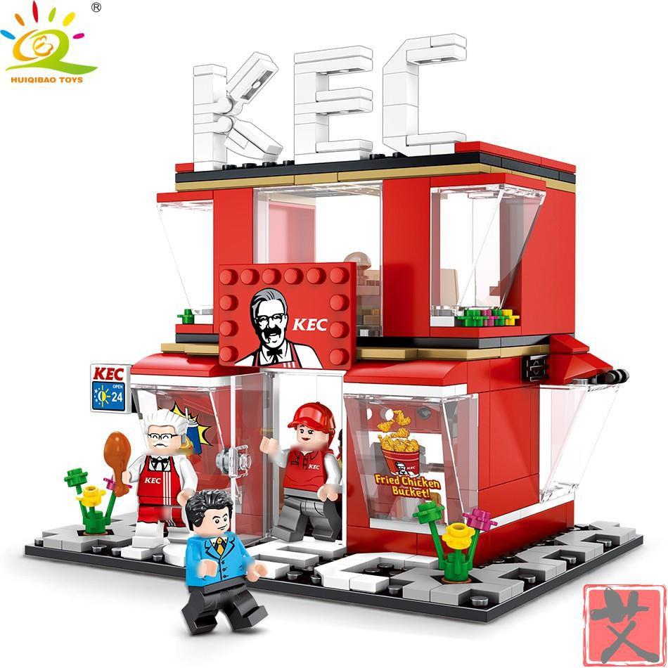 積木【現貨】匯奇寶 60108 迷你街景 相容樂高 LEGO 街景積木 城市系列 哈根達斯 7-11 麥當勞 星巴克