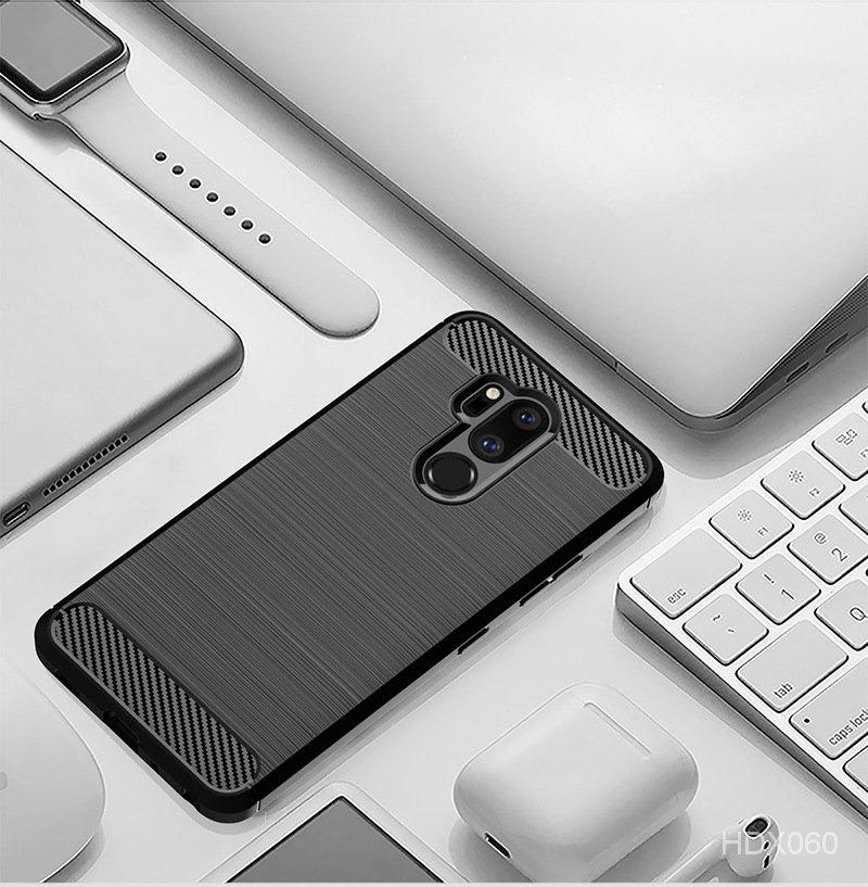 適用LGG7 Plus ThinQ手機殼LGG7 ThinQ保護套LG G7 One拉絲紋軟殼 ORHi
