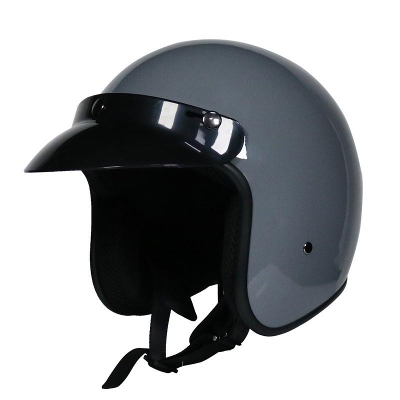 VOSS復古哈雷安全帽 半盔男女哈雷夏季 機車安全帽四季 3/4盔半覆式安全帽