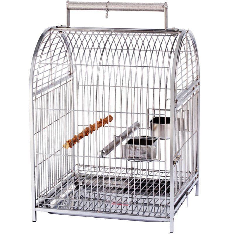 【現貨+寵物籠】鸚鵡鳥籠大號304不銹鋼鳥籠子虎皮玄鳳鸚鵡籠子新款特大豪華站架