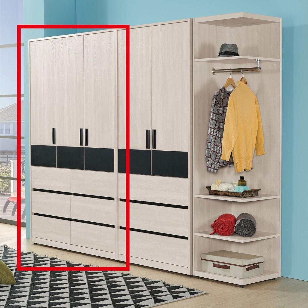 【118.5cm衣櫃-A032-2】木心板 推門滑門開門 衣服收納 免組裝 【金滿屋】