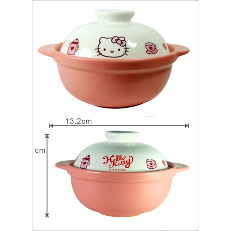 hello kitty高耐熱陶瓷鍋。 砂鍋