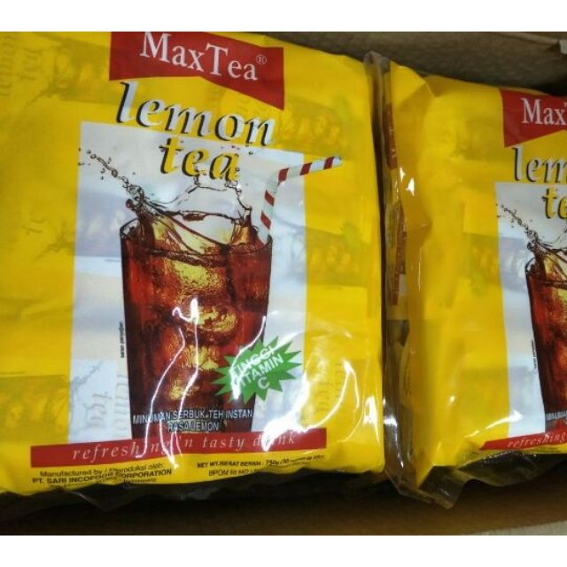 印尼 MaxTea即溶檸檬茶 LemonTea 檸檬紅茶 超人氣商品
