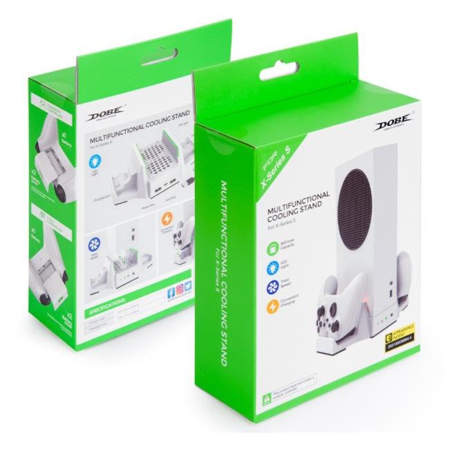 [玩樂館]全新 DOBE TYX-0663 Xbox Series S 雙電池手把座充散熱底座 Xbox S/X 手把充