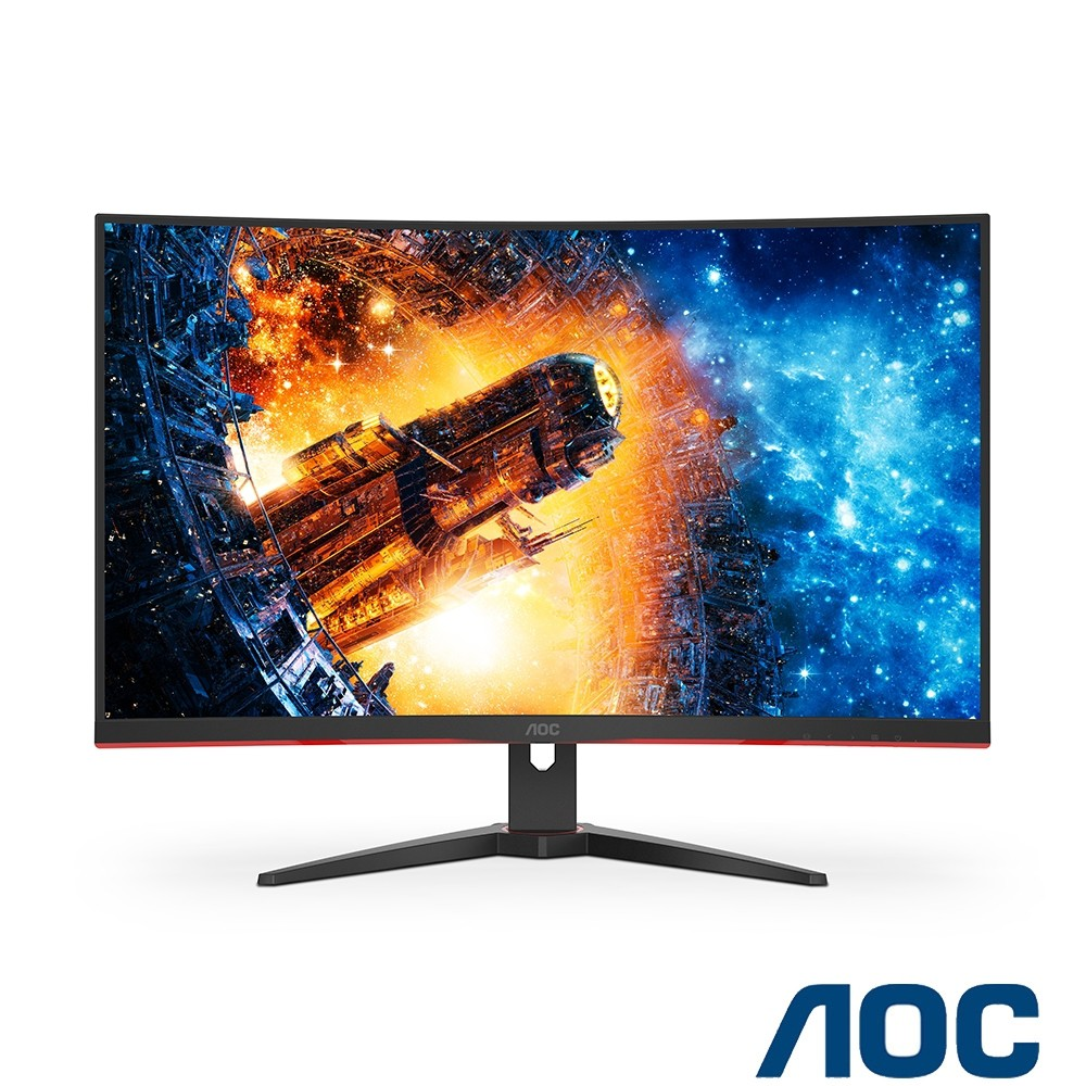 福利品 非宜花東偏遠加價地區可免運 含稅 艾德蒙 AOC C32G2E 32型 165Hz曲面電競螢幕