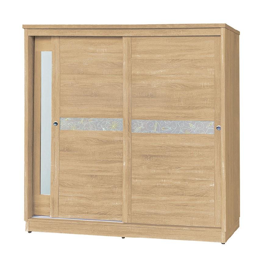 【182cm梧桐衣櫃-K67-967】木心板 推門滑門開門 衣服收納 免組裝 【金滿屋】