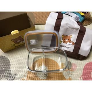 華南金 Rilakkuma拉拉熊玻璃分隔保鮮盒830ml+保溫袋 臺南市