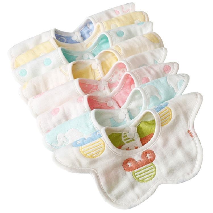 口水巾 兒童口水巾純棉防水寶寶圍嘴