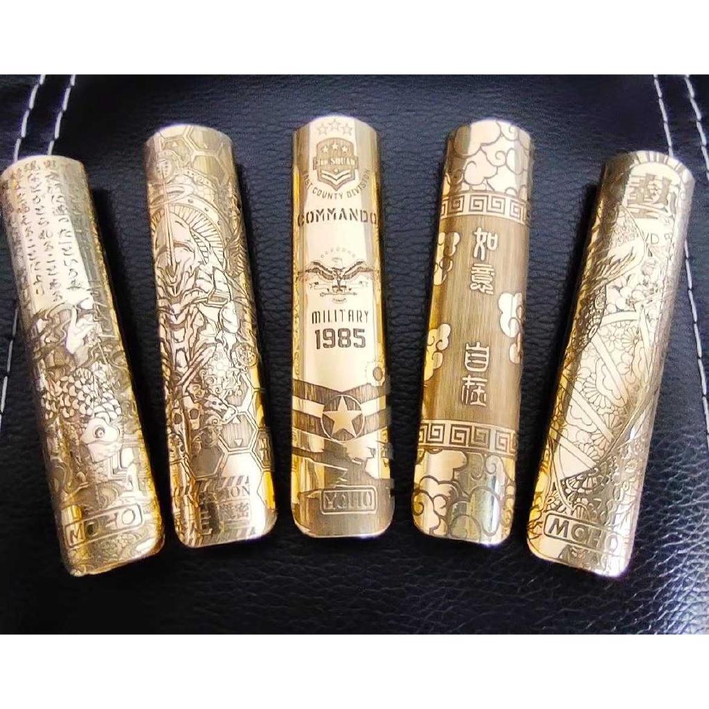 破樊籠聯名悅刻relx一代純手工雕刻版主機機身外殼 黃銅深雕木盒包裝定制金屬保護殼 可適用多款小煙煙彈