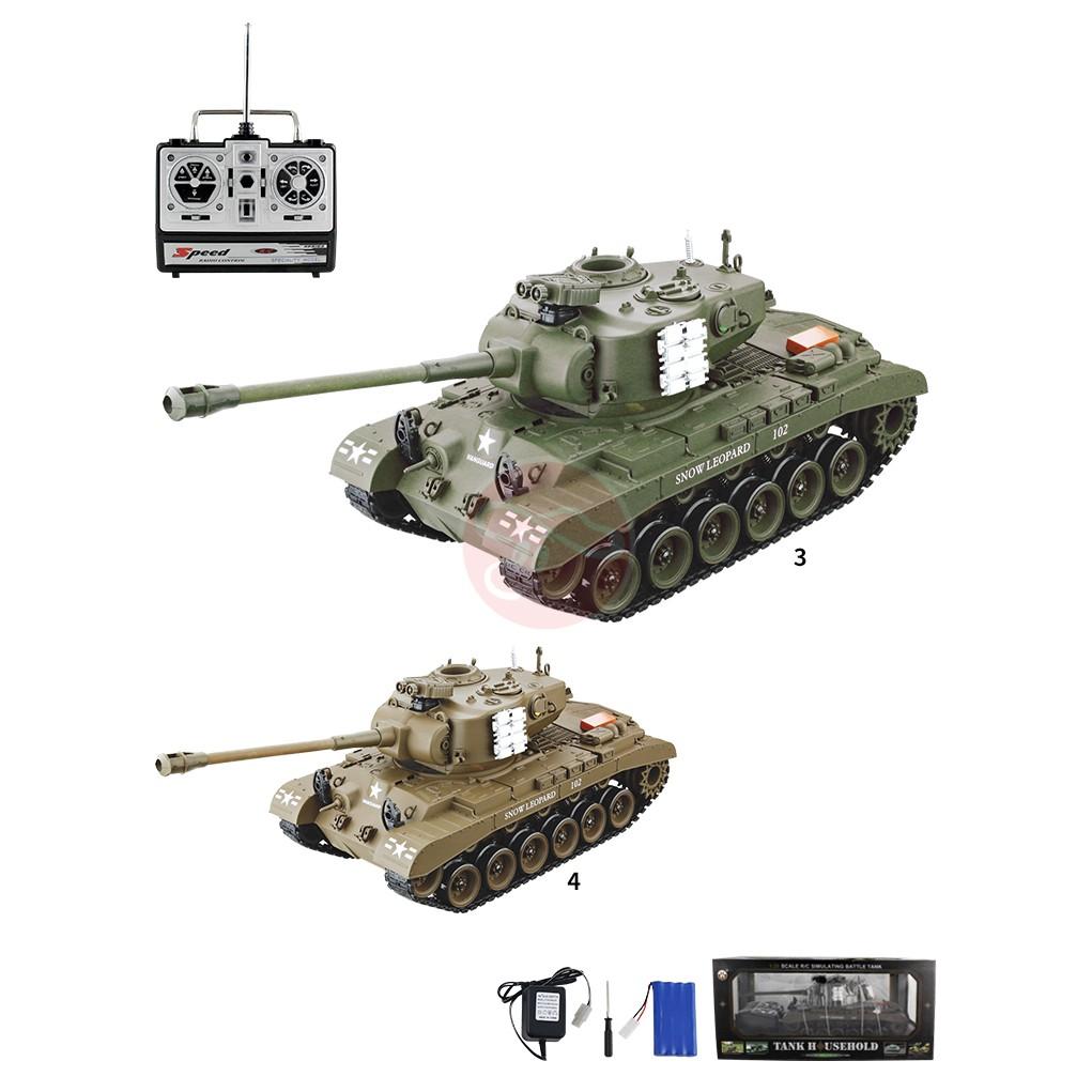 1:20雪豹遙控坦克 聲光戰車/可發射BB彈/砲管有後座力