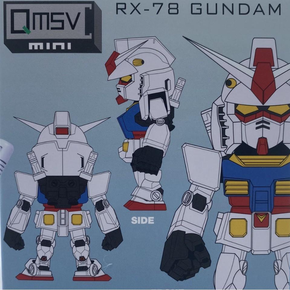 AiAi✨泡泡瑪特萬代南宮mini高達盲盒 Qmsv RX-78 GUNDAM