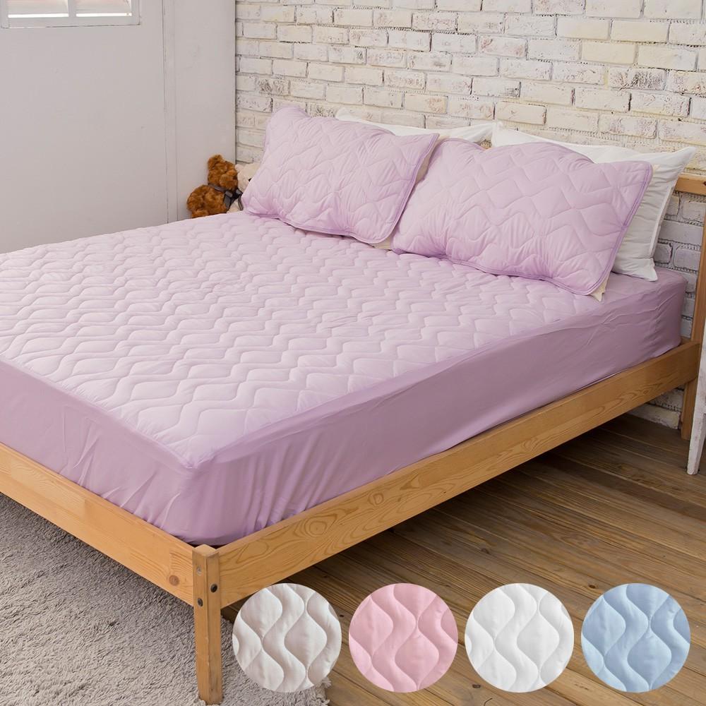 雙人床包式保潔墊防污透氣 台灣製-