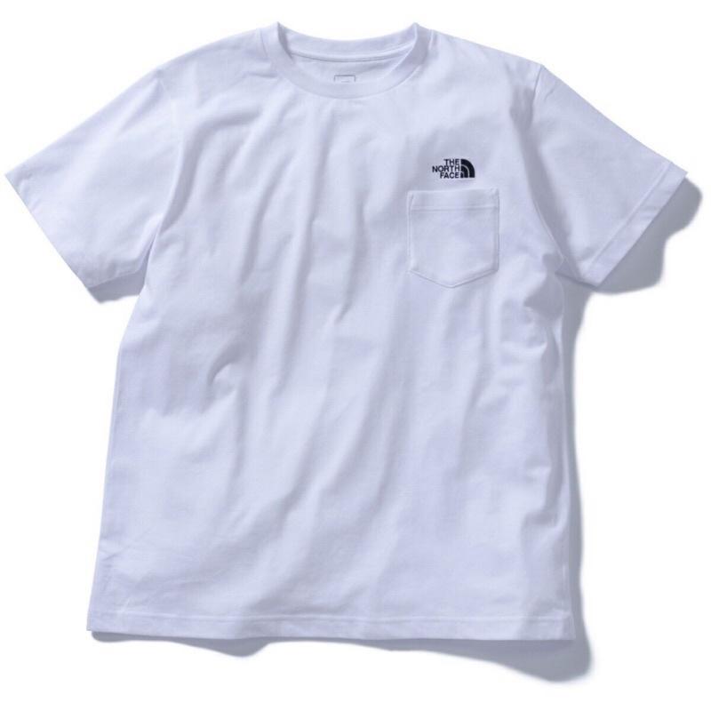 日本限定 全新僅拆吊牌 The North Face Pocket Tee 口袋 短tee 白色 L號 nt32003a