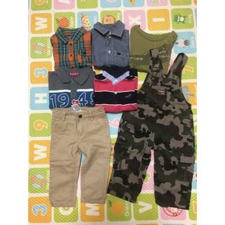 小小型男衣褲組 80-90cm guess ELLE oshkosh gap Carter's sprit 七件組