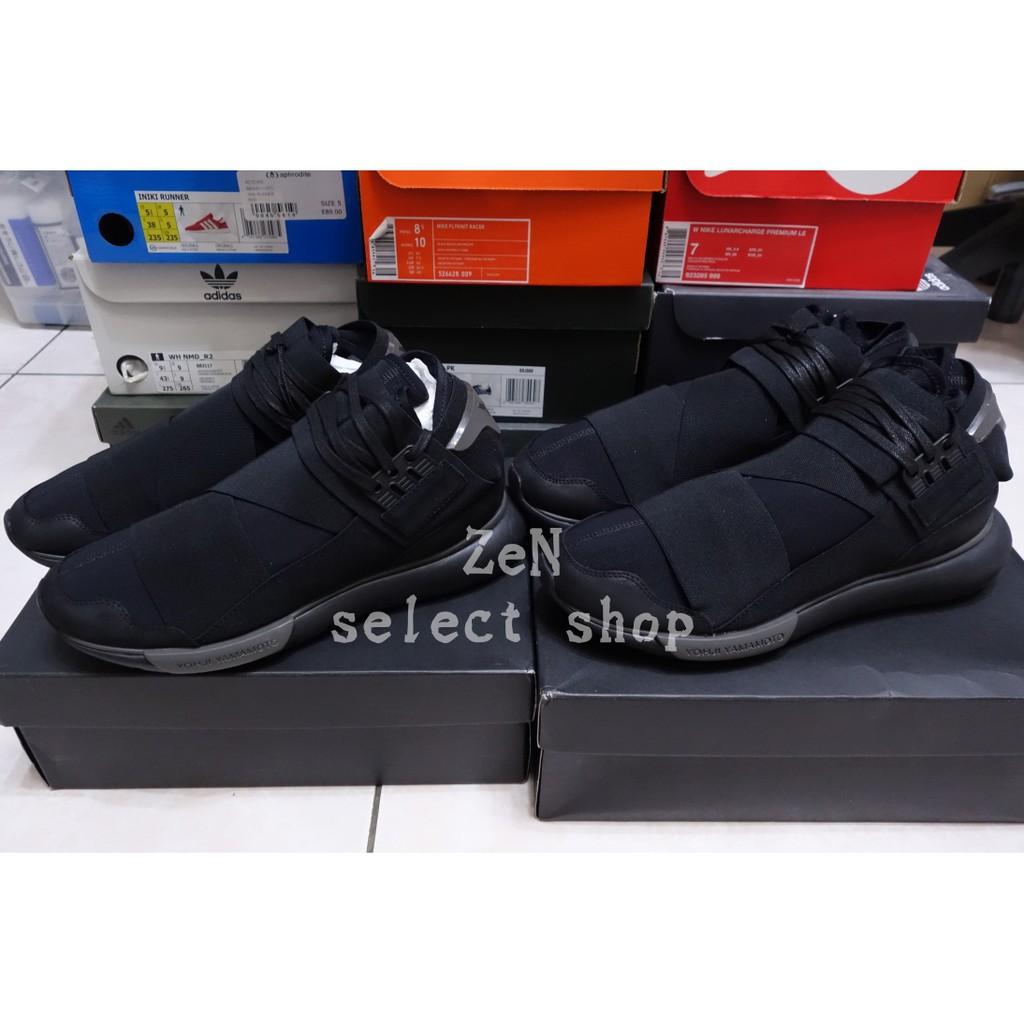 d446dc78639d8 現貨特價 Adidas Y-3 QASA HIGH Black FW17 全黑黑魂繃帶忍者鞋CP9854 ...