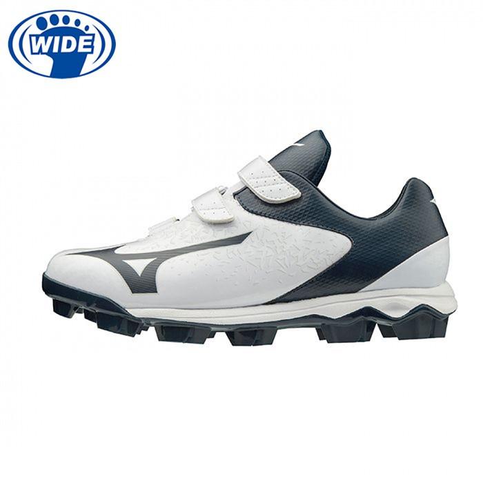 MIZUNO 男女棒壘球鞋 WAVE SELECT NINE BLT 白 寬楦 11GP202014 贈運動襪 20SS